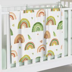 Rainbow Print Baby Swaddle Blanket, Rainbow Blanket Baby Girl, Rainbow – Trendy Lime