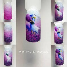 Reposted from - Spring Nails, Summer Nails, Sea Nails, Flower Nails, Creative Nails, Cool Nail Designs, Christmas Nails, Decoration, Bottle