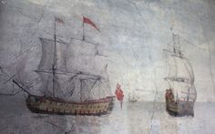17th century wall painting at The Jolly Sailor, Orford