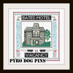 Bates Motel Pattern/PDF   'Psycho' Cross Stitch by PyroDogPins, £3.00