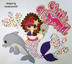 listed on ebay...danderson651  Mermaid, Girl, Dolphin, Paper Piecing, Scrapbooking, Borders, PreMade, Embellishment facebook - danderson651