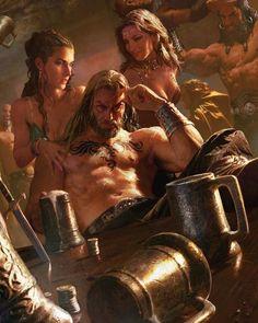 Warriors in Tavern