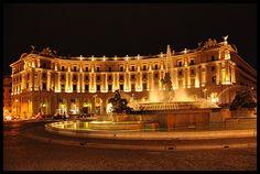 Piazza Esedra di notte