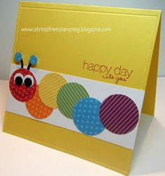 Stress-Free Stamping with Shana: Colorful Caterpillar