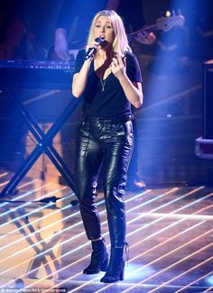 Swamping her shape: Ellie Goulding was invited to perform on the final of The Voice of Ger...