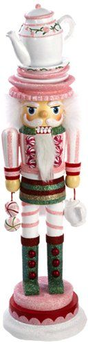 Hollywood Nutcrackers Kurt Adler 18-Inch Hollywood Tea Time Nutcracker with Tea Pot