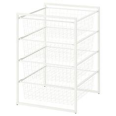 JONAXEL, with mesh baskets, 50x51x104 cm - IKEA Ikea Dresser, Dresser Storage, Ikea Storage, Dorm Storage, Ceiling Storage, Dresser Drawers, Storage Shelves, Neat And Tidy, Tidy Up