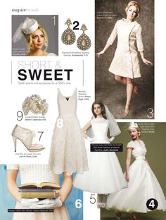 Justin Alexander Style 8706 and style 9708 are featured in the October issue of Inspire Weddings Magazine.