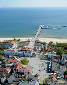 Aerial view of Sopot. / Sopot z lotu ptaka. Places To Travel, Places To See, Travel Destinations, Danzig, Places Around The World, Around The Worlds, Poland Cities, Sopot Poland, Visit Poland