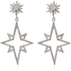 Apples & Figs Jewellery Women Supernova Earrings ($315) ❤ liked on Polyvore featuring jewelry, earrings, silver, nickel free earrings, nickel free jewelry, earring jewelry and lightweight earrings