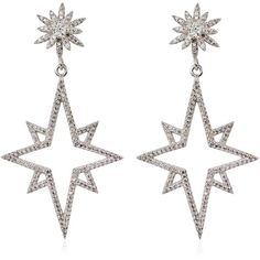 Apples & Figs Jewellery Women Supernova Earrings (€290) ❤ liked on Polyvore featuring jewelry, earrings, accessories, silver, nickel free jewelry, lightweight earrings, nickel free earrings and earring jewelry