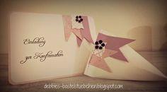 Debbies Bastelstübchen: Einladung zur Konfirmation Set 1