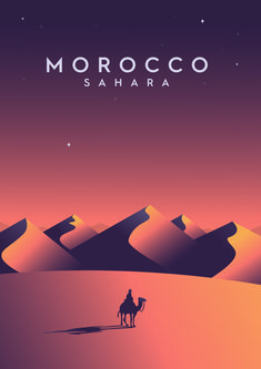 A Vintage style travel/tourism/railway poster of Morocco and the Sahara. Japon Illustration, Travel Illustration, All Poster, Poster Prints, Ancient Greek Architecture, Gothic Architecture, Railway Posters, Travel And Tourism, Vintage Travel Posters