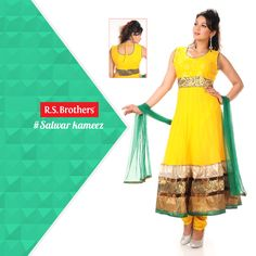 Hello Divas… Enhance your outstanding personality for ‪#‎Party‬'s or Occasion's, by choosing this enriched designed ‪#‎Churidar‬ from ‪#‎R‬.S.Brothers. Latest Collections in more designs available @R.S.Brothers.