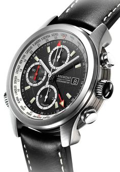 Bremont ALT1 World Timer Black Dial Watch. Bremont's World Timer is full of complications at a reasonable price. Over-engineered, the ALT1-WT has a Roto-Click bezel that shows all global time zones, a chronograph, COSC certified- and more. Available at Oster Jewelers!