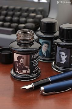 The De Atramentis Educator Ink Collection is a trio of fountain pen inks, each named after a famous pioneer in education reform.