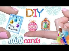How To Make Miniature Greeting Cards For Christmas – DIY Mini Christmas Cards - YouTube