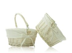 Wicker Basket Storage Hampers - Pack of 2 Elegant, eco-friendly wicker baskets for any room in the house. http://www.MightGet.com/january-2017-11/unbranded-wicker-basket-storage-hampers--pack-of-2.asp