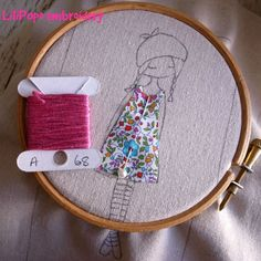 Tutorial for embroidery lilipopo