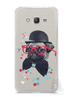 Capa Samsung Gran Prime Cachorro Pug Estiloso #1 - SmartCases - Acessórios para celulares e tablets :)