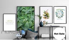 Pompon Aloe Tea shop Design Leaves Canvas Print Wall Decals Kids Decor Unframed IDCCV-BO-000168