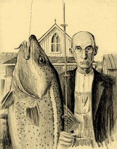 American Gothic Fishing.