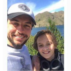 Against the gorgeous backdrop of the great outdoors, Crown Prince Hussein of Jordan, 23, shared this fun selfie co-starring his 12-year-old little brother Prince Hashem on his Instagram page. Photo: Instagram/@alhusseinjo