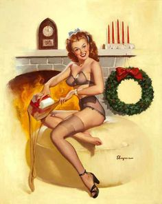 A Little More Naughty Than Nice, 31 Classic Christmas Pin-Ups To ...