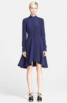 Alexander McQueen Silk Fit & Flare Shirtdress available at #Nordstrom