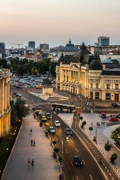 Calea Victoriei, Royal National Library - photo by Octav Dragan Earth City, Romania Travel, Bucharest Romania, Eastern Europe, Wonders Of The World, Beautiful Places, Places To Visit, Cities, Photography