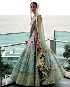 All my favourite colours in one lehenga ! The wmg bride  @artfotostudios outfit @anitadongre