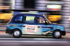 Large scale outdoor artwork - for taxis, buses, trams and billboards