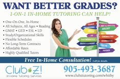 In Home Tutoring & Online Tutoring - Club Z! Tutoring of Whitby, ON Contract Management, Math Tutor, Online Tutoring, Study Skills, Good Grades, Calculus, Test Prep, Foreign Languages, Economics