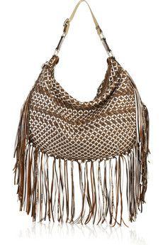 Marc Jacobs - Boho woven fringed leather bag