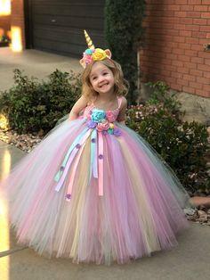 Traje de cumpleaños de unicornio Tutu vestido traje de