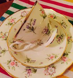 100 year Royal Albert breakfast plate and tea cup, mine mine mine just cause i liked it :)