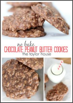 Delicious and Simple to make No Bake Chocolate Peanut Butter Cookies!