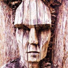 #art #kunst #museum #men #wood #mis #amazingfotos #sculpture #skulptur #face Wood Carving Faces, Got Wood, Museum, Animal Silhouette, Garden In The Woods, Outdoor Art, Wood Sculpture, Tree Art, Public Art