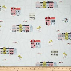 Designed by Amy Sinibaldi for Art Gallery Fabrics, this ultra smooth 200 thread count cotton print collection features bright pinks, corals, and oranges, with dusky navy and grey for a charming snapshot of Charleston, North Carolina. With classic pineapples, fun geometric prints, and bold magnolias that will transport you to the old south and are perfect for quilting, apparel, and home decor accents. Colors include white, blue, shades of pink, chartreuse, burgundy, beige, navy, and coral.