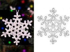 White Christmas in Thread Crochet Crochet Snowflake Pattern, Crochet Stars, Crochet Snowflakes, Thread Crochet, Crochet Motif, Crochet Crafts, Crochet Doilies, Crochet Flowers, Crochet Projects
