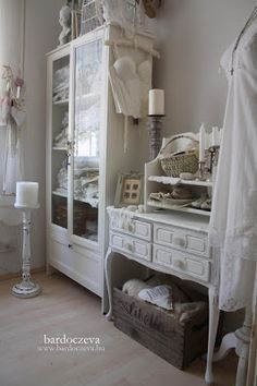 bardoczeva Shabby Chic Antiques, French Country Farmhouse, China Cabinet, Storage Solutions, Craft Rooms, Pure Products, Crafty, Studio Ideas, Table