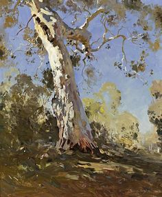 View Morning The white gum by Theodore Penleigh Boyd on artnet. Browse upcoming and past auction lots by Theodore Penleigh Boyd. Watercolor Trees, Watercolor Landscape, Landscape Art, Landscape Paintings, Landscapes, Gravure Illustration, Photo D Art, Guache, Traditional Paintings