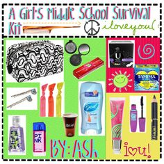 A Girls Middle School Survival Kit
