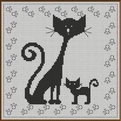 Chat – Cat – Gatto – Gato - il faut contacter la créatrice par email pour obtenir le diagramme.
