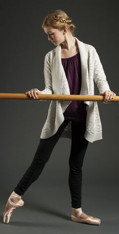 every tendu begins and ends with passion. | Play Om Knit Wrap
