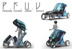 P.F.U.V - Personal Folding Urban Vehicle by Eduardo Diaz Tostado