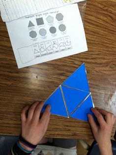 Geometry exploration- Use die cuts of different triangles to build polygons