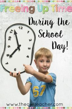 Teachers are busy and need every minute of the day to get everything in! This blog post provides ideas on how to free up time during the school day to make more room for academics!