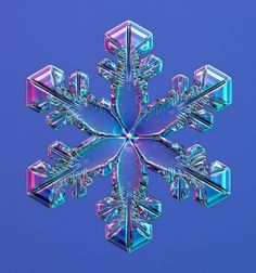 Snowflake under an electron microscope. #nature