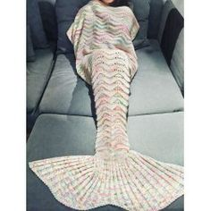SHARE & Get it FREE | Comfortable Multicolor Knitted Mermaid Tail Design Blanket For AdultFor Fashion Lovers only:80,000+ Items • FREE SHIPPING Join Twinkledeals: Get YOUR $50 NOW!